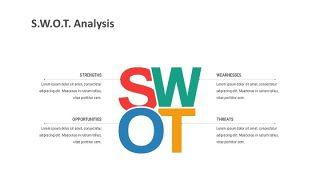 彩色SWOT关系PPT-3