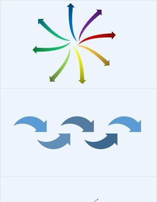 各种箭头方向做标注用的PPT素材可调颜色方向