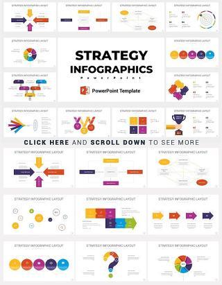 36款战略策划规划信息图表PPT设计元素