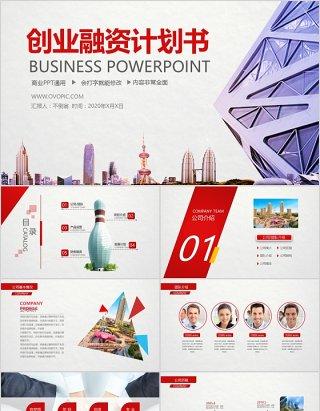 简单实用商业计划书PPT模板