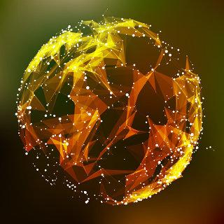科技粒子圆形图形矢量素材-4