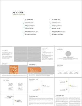 白色简洁商务通用PPT模板