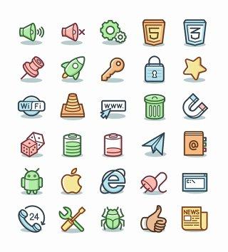 网络图标素材UI矢量科技互联网icon