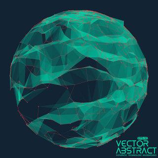 科技粒子圆形图形矢量素材-5