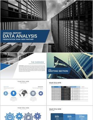 数据分析/财务分析/商务汇报PPT模板