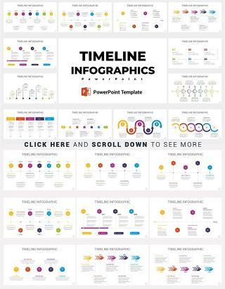 37款时间轴PPT信息图元素图形设计