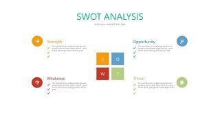 彩色SWOT关系PPT-18