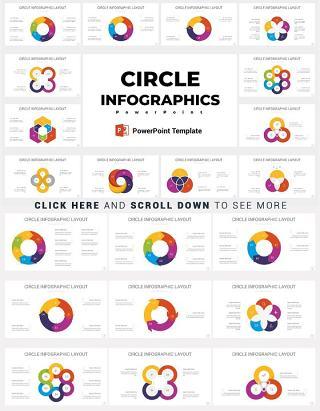 多套配色完整圆形信息图设计ppt矢量图表元素