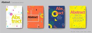 创意个性彩色海报设计欧美时尚几何背景素材