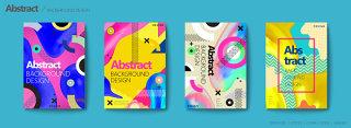 彩色炫彩欧美几何平面背景素材海报设计源文件可编辑