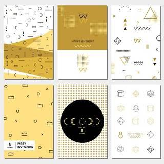 简约时尚几何元素小清新孟菲斯风格背景设计
