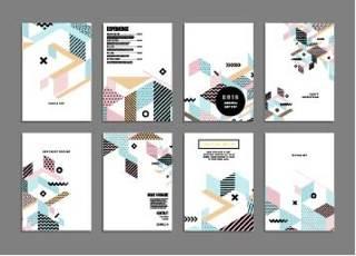 创意个性几何背景孟菲斯风格背景素材设计