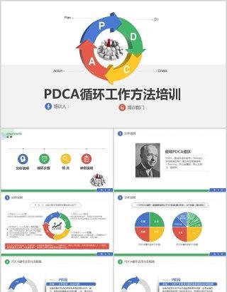 简约大气PDCA循环工作方法培训PPT模板