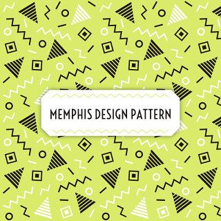 集合元素扁平风格孟菲斯风格背景设计素材