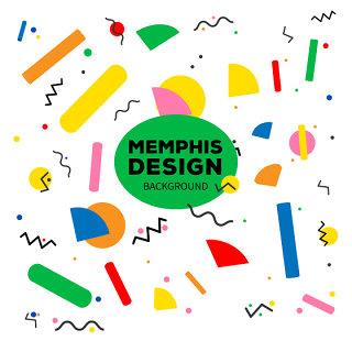 线条简约时尚孟菲斯背景风格设计