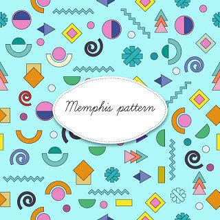 孟菲斯风格设计素材彩色元素eps文件