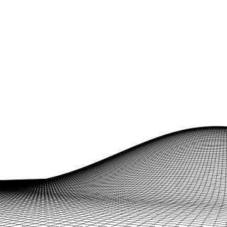 黑白起伏山脉背景素材科技感山脉立体效果素材