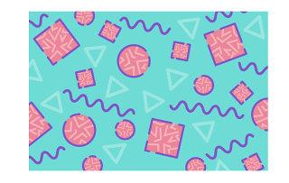 几何线条时尚孟菲斯风格背景素材设计