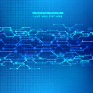 智能科技背景素材科幻感线路电线背景素材