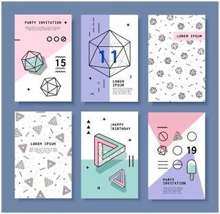 小清新几何元素设计孟菲斯风格背景设计