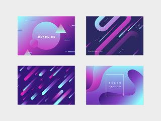 彩色简约时尚现代个性海报素材文件可编辑源文件