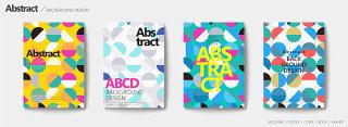 炫彩个性几何图案平面广告海报设计文件素材