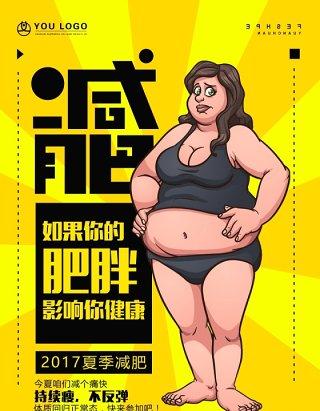 复古漫画波普艺术夏季减肥海报设计素材