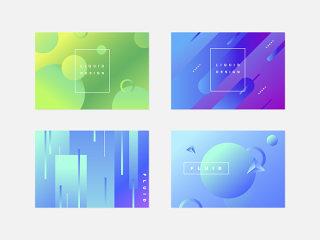 炫彩几何艺术渐变艺术背景海报设计素材文件可编辑