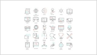 线性办公图标PPT元素素材可编辑Big Icons