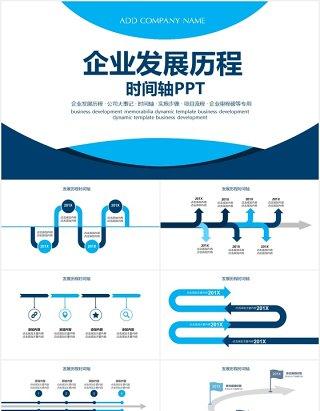 企业宣传发展历程大事记时间轴动态PPT模板