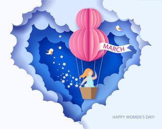 3.8女神节女人节妇女节插画创意海报背景图EPS矢量素材