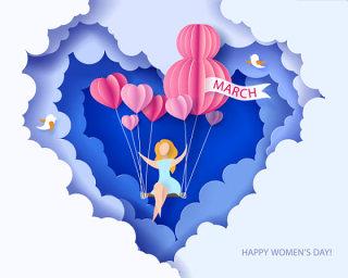 三八女王节女神节女人节妇女节插画创意海报背景图EPS矢量素材