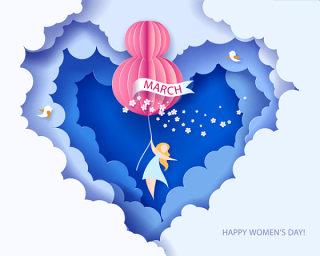 3.8女王节女神节女人节妇女节插画创意海报背景图EPS矢量设计素材