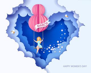 女王节女神节女人节妇女节插画创意海报背景图EPS矢量设计素材