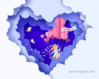 三八女王节女神节女人节妇女节插画创意海报背景图EPS矢量设计素材