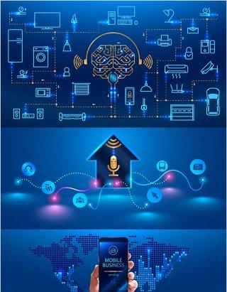 22款炫酷数码电子HUD汽车智能技术矢量UI界面AI矢量素材 Electronic products UI