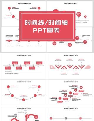 简约时间线时间轴PPT图表3