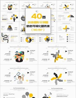 40页创业图形拼图新可视化图表