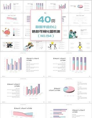 40页数据手绘办公新可视化图表集