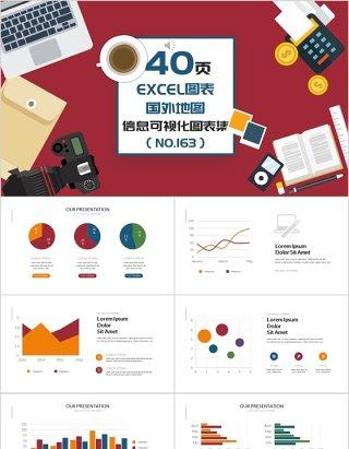 40页EXCEL图表集国外地图信息可视化图表集