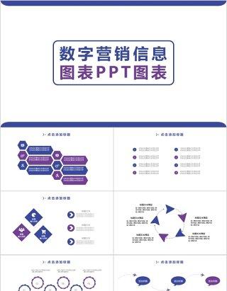 数字营销信息图表PPT图表下载