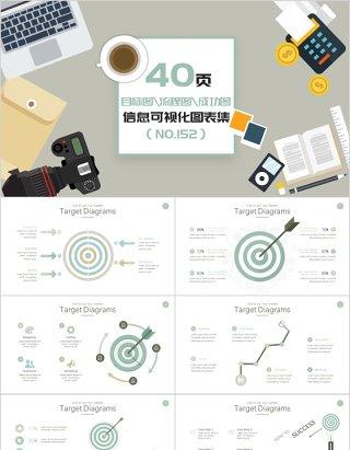 40页目标图流程图成功图信息可视化图表集