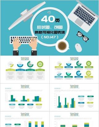 40页柱状图、饼图信息可视化图表集