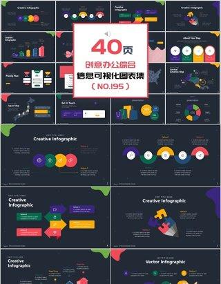 40页创意办公综合新可视化图表集