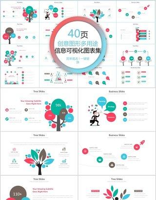 40页创意图形多用途信息可视化图表集