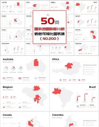 50页国外地图数据分析新可视化图表集