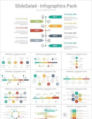 250款时间轴等各类PPT图表流程图分析图