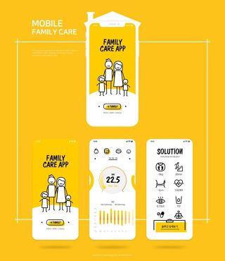 UI设计作品扁平手机APP交互界面PS模板PSD分层源文件素材