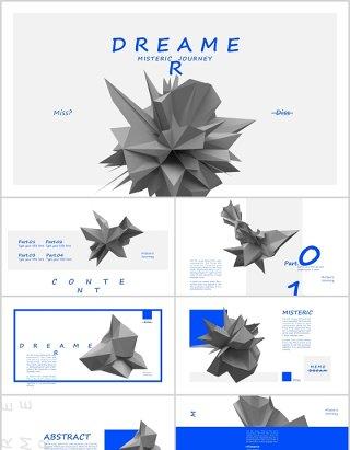 创意艺术风格国外抽象企业项目宣传介绍PPT模板