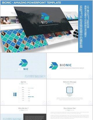 创意独特的照片图片排列排版PPT图表素材Bionic - Amazing Powerpoint Template